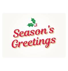 Seasons greetings card vector