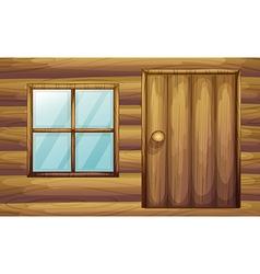 Wooden cabin vector image