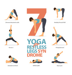 7 yoga poses for restless legs syndrome vector