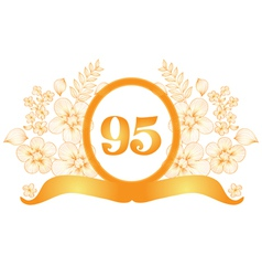 95th anniversary banner vector
