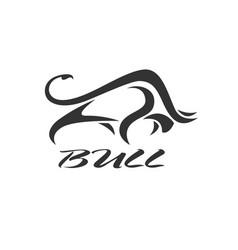 A bull design on white background wild animals vector