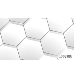 abstract embossed hexagon honeycomb white vector image