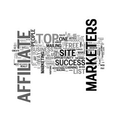 Affiliate tips for the top of affiliate marketers vector