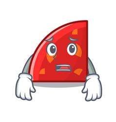 Afraid quadrant mascot cartoon style vector