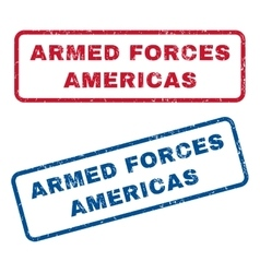 Armed forces americas rubber stamps vector