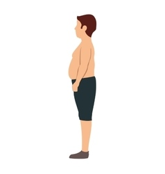 Avatar body fat male man vector