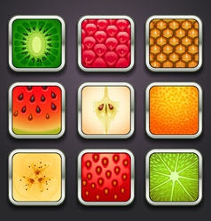 background for the app icons-fruits part vector image