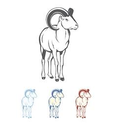 Bighorn Ram vector