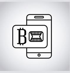 bitcoin virtual coin design vector image