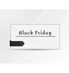 Black friday paper with black ribbon vector