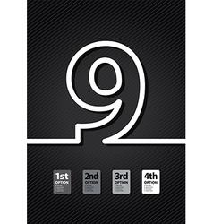 Black number vector