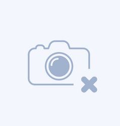 Camera icon with cancel sign vector