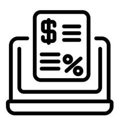 Credit request icon outline style vector