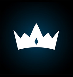 crown icon in trendy flat style isolated royal vector image