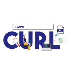 Curl www internet address url format website vector