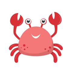 Cute crab print for kids vector