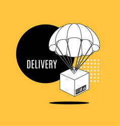 delivery concept banner contour linear style vector image