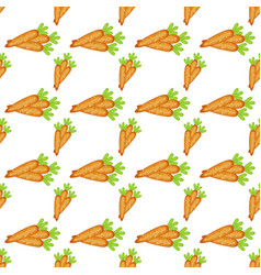 easter carrot cartoon seamless pattern vector image