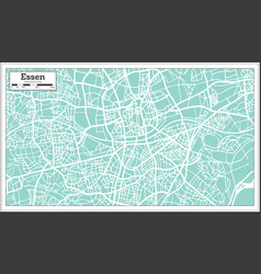 essen germany city map in retro style outline map vector image