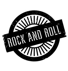 Famous dance style Rock and Roll stamp vector image