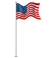 flag design united states vector image