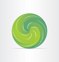 Green eco spring design element vector