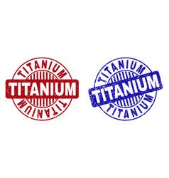Grunge titanium textured round watermarks vector