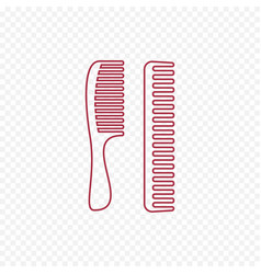 hair comb icon device for combing hair thin line vector image