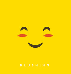 High quality cartoon with blushing face emoticons vector