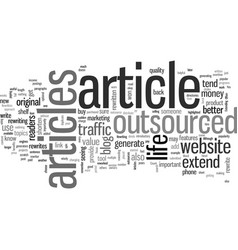 How to extend life outsourced articles vector