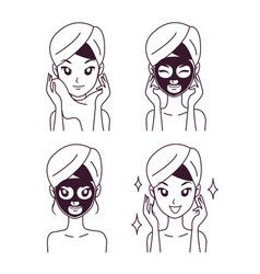 icon mask treatment girl vector image