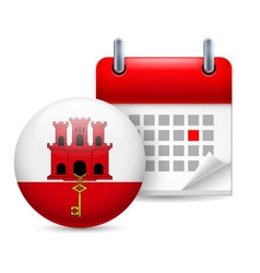 Icon of national day in gibraltar vector image