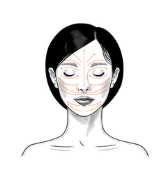 instructions for facial massage vector image
