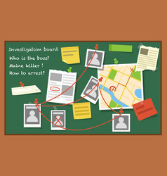 Investigation board flat vector