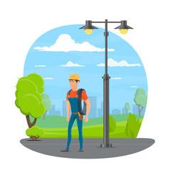 Lineman icon for electrician profession design vector