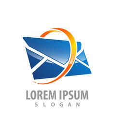 logo concept design 3d ring envelope symbol vector image