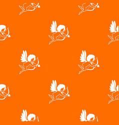 love cupid pattern seamless vector image
