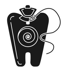 medical dental floss icon simple style vector image