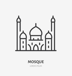 Mosque line icon pictograph muslim vector