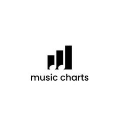 music chart logo design concept vector image