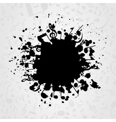 Musical stain vector image