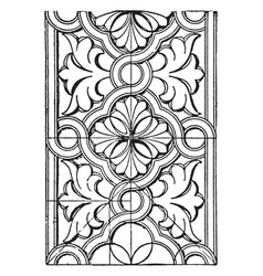 Ornament pattern from hagia sophia vintage vector