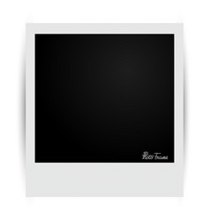 photo frame with shadows vector image
