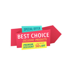 promo phrases for shop and store bargain sale vector image