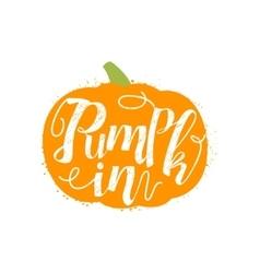 Pumpkin Name Of Vegetable Written In Its vector