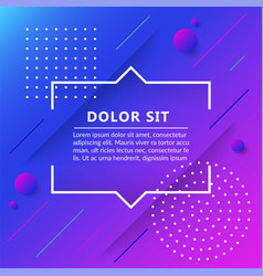 quote boxisolated on trendy geometric background vector image