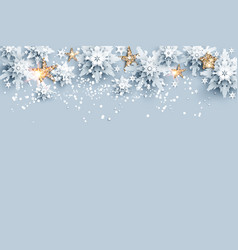 realistic snow and stars vector image