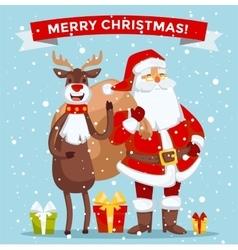 Santa Claus Cartoot old man vector image