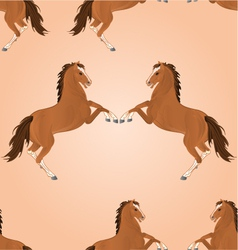Seamless texture brown horse jump vector