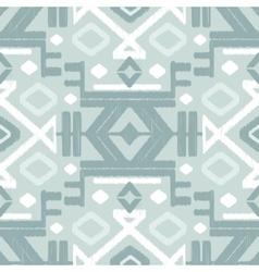 Silver gray ikat seamless pattern vector